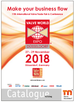 Messekatalog VALVE WORLD EXPO 2016