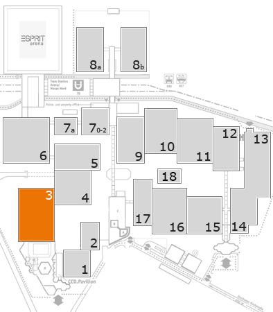 VALVE WORLD EXPO 2016 fairground map: Hall 3